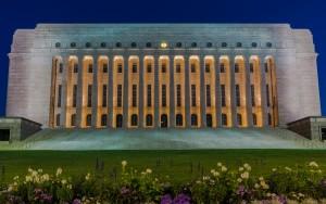 Parliament House in Helsinki, Finland.