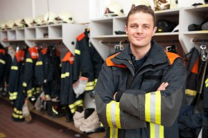 Picture from a young and successful firefighter at work